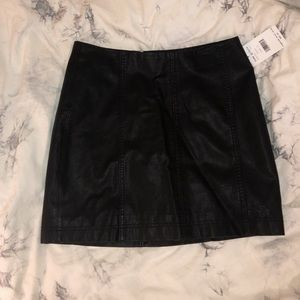 NWT Free People Leather Skirt